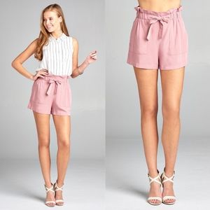 MICHELLE Bow Shorts - PINK